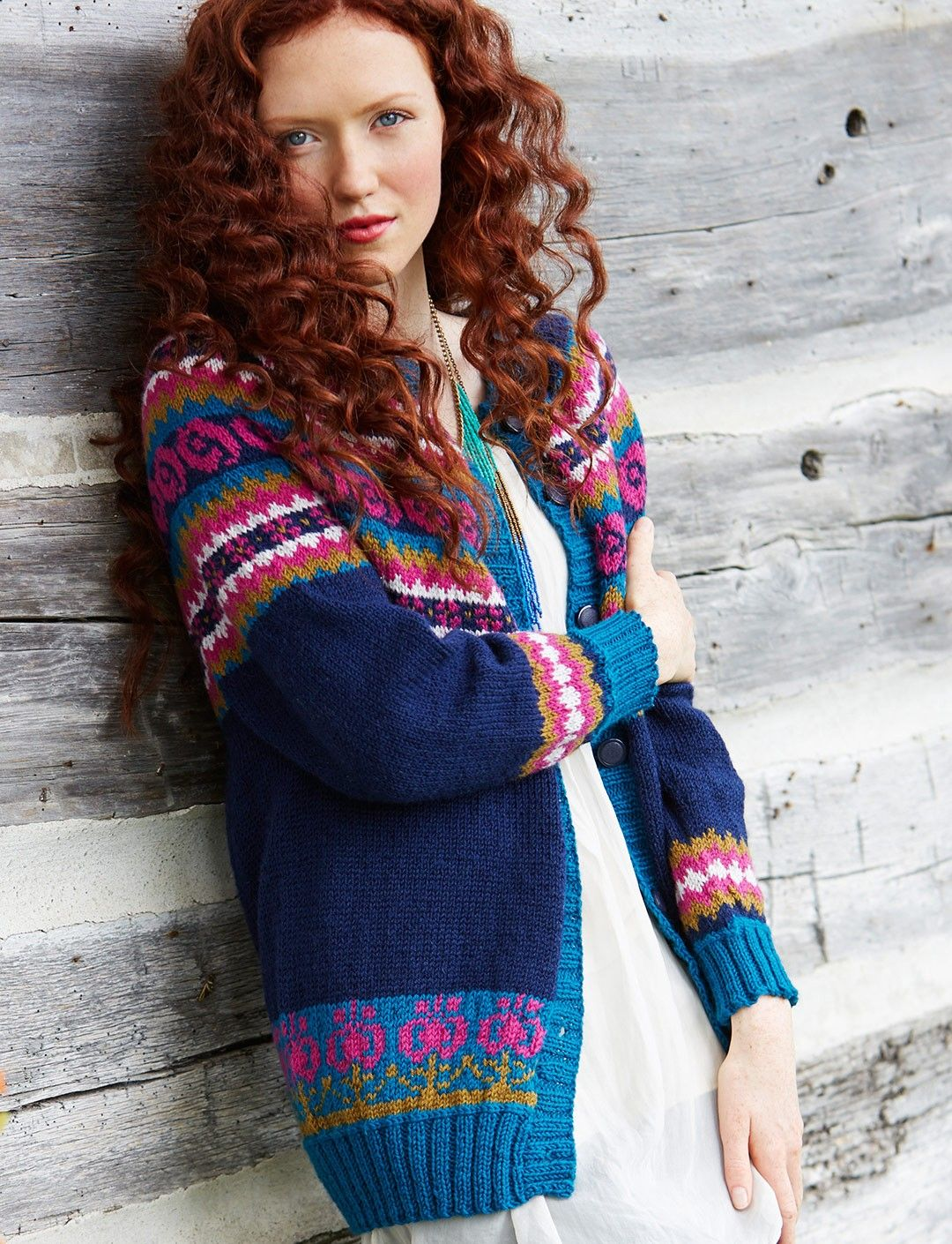 Love this Folksy Yoke maybe without the pink #fairisle cardigan ...