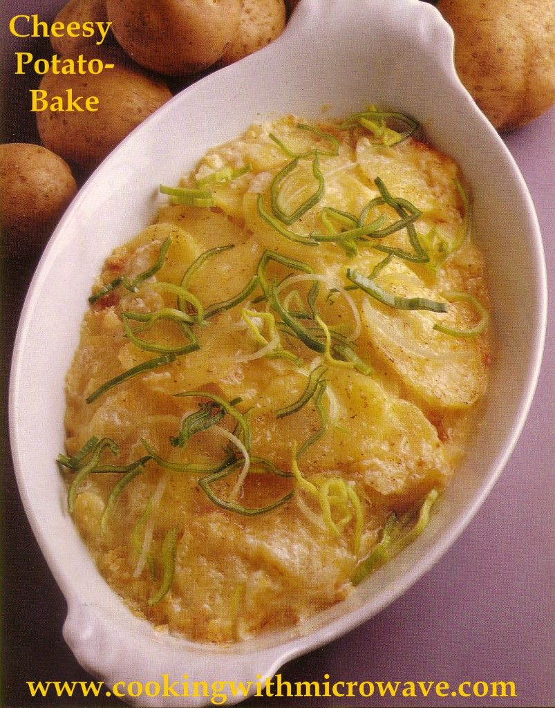 Cheesy potato bake for microwave side dishes pinterest cheesy vegetable side dishes cheesy potato bake for microwave forumfinder