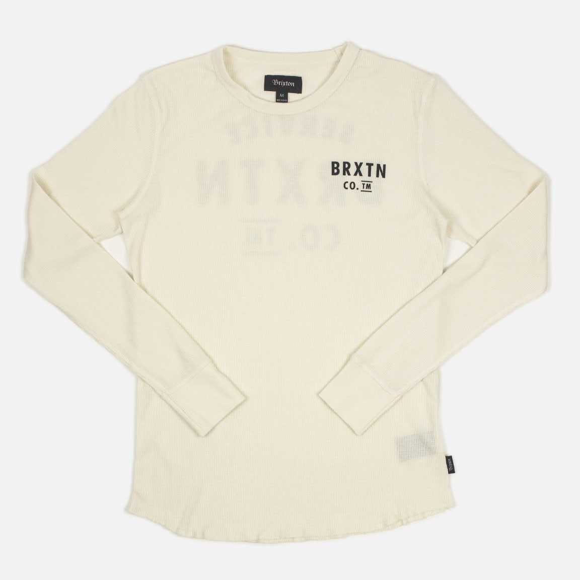 032cef4b322e Brixton Eaton Long Sleeve Thermal T Shirt - Cream
