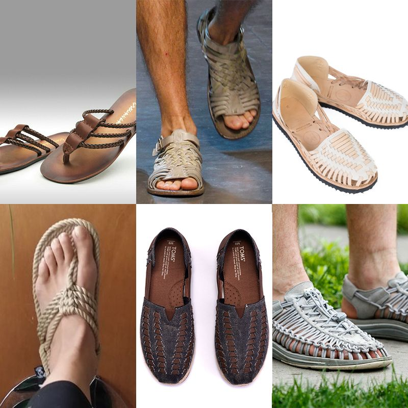 men's rope and huarache sandals