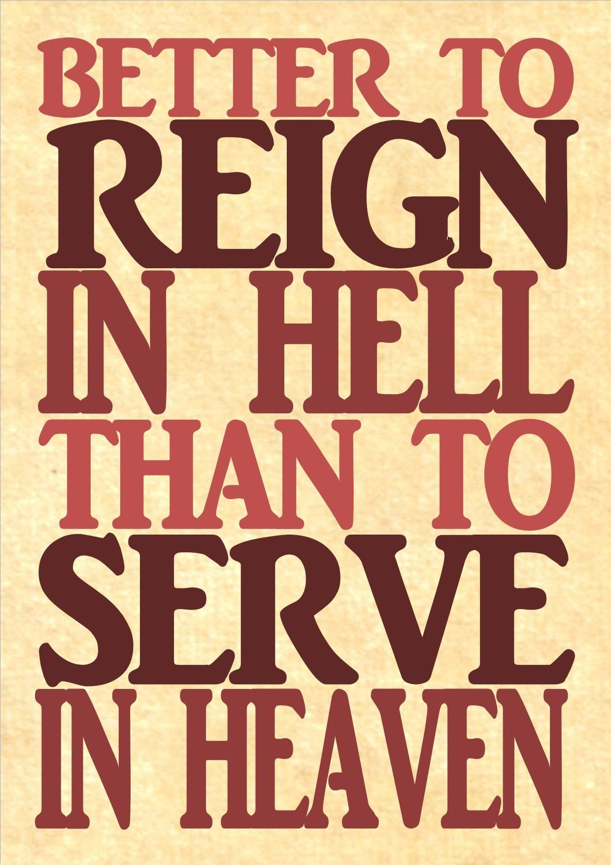 To Reign in Hell: A Novel