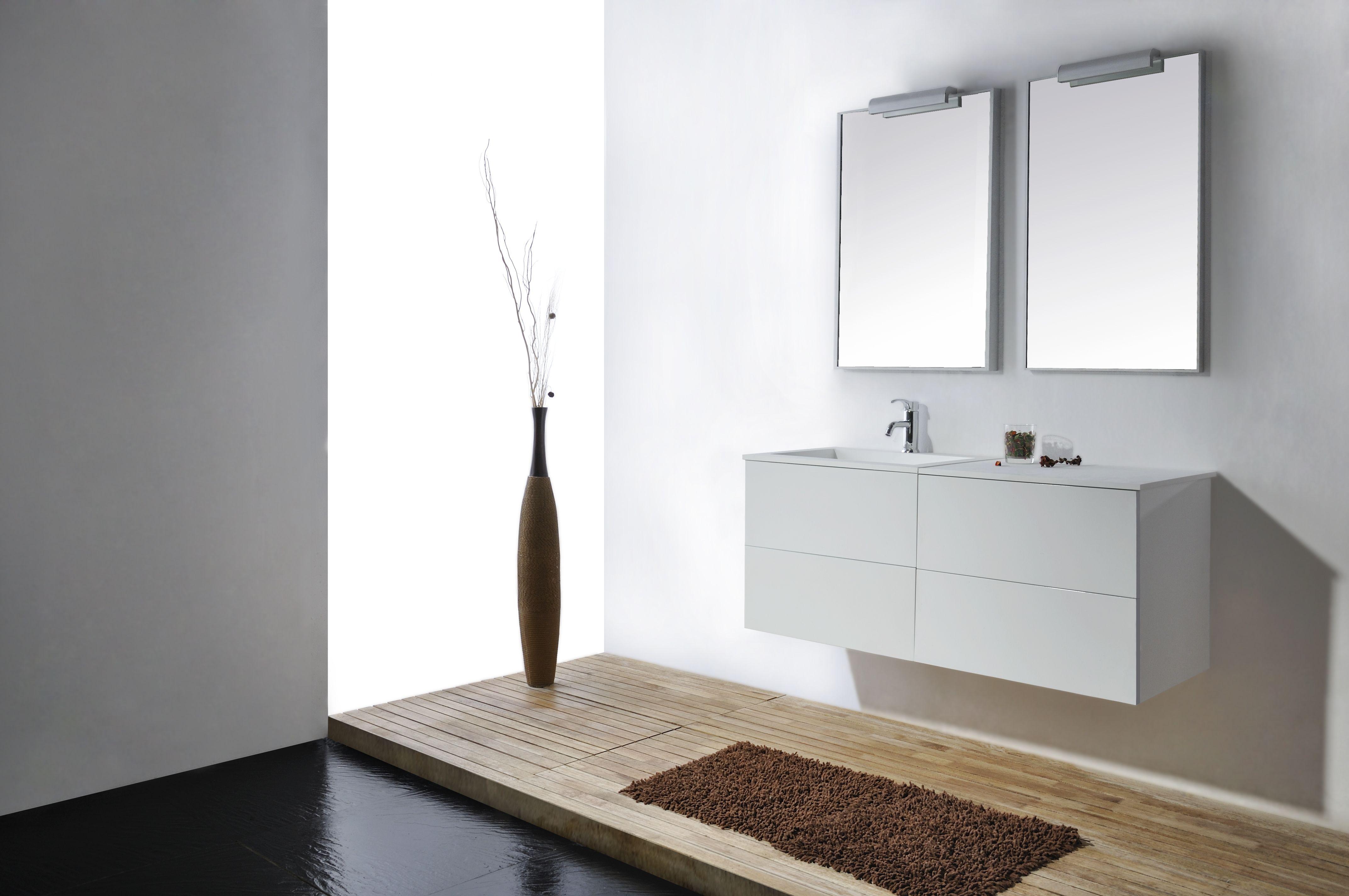 Mineralguss Doppel Waschtisch Eckig Mit Holz Schubladenschrank 120 Cm 0401003 In Der Kategorie Waschtische Mit Unters Unterschrank Schubladenschrank Waschtisch
