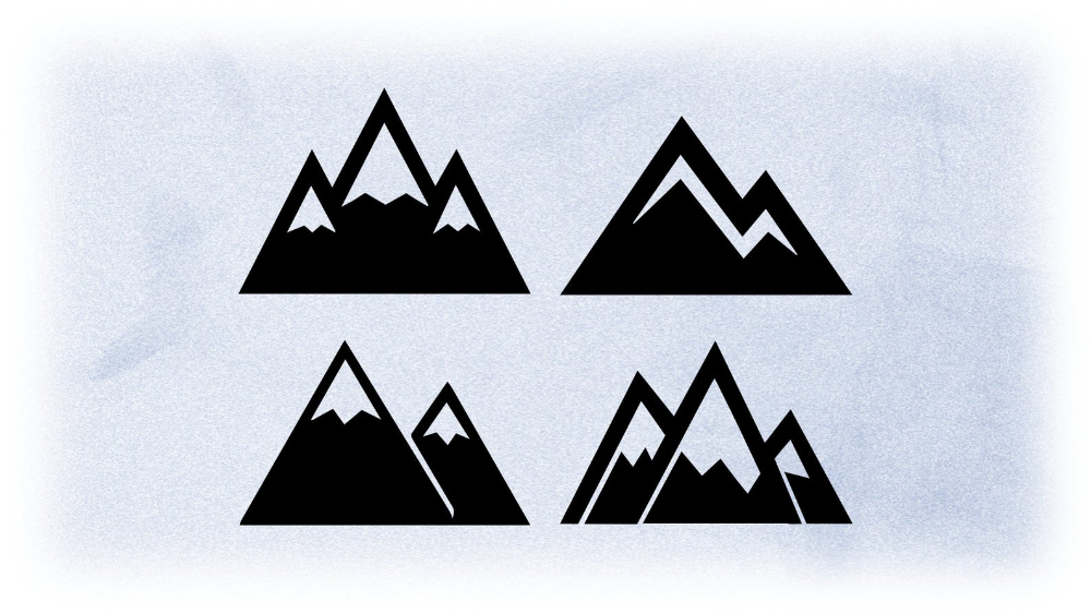 Shape Clipart Simple Easy Large Black White Mountain Etsy In 2020 Mountain Drawing Simple Small Black Tattoos Mountain Tattoo Simple