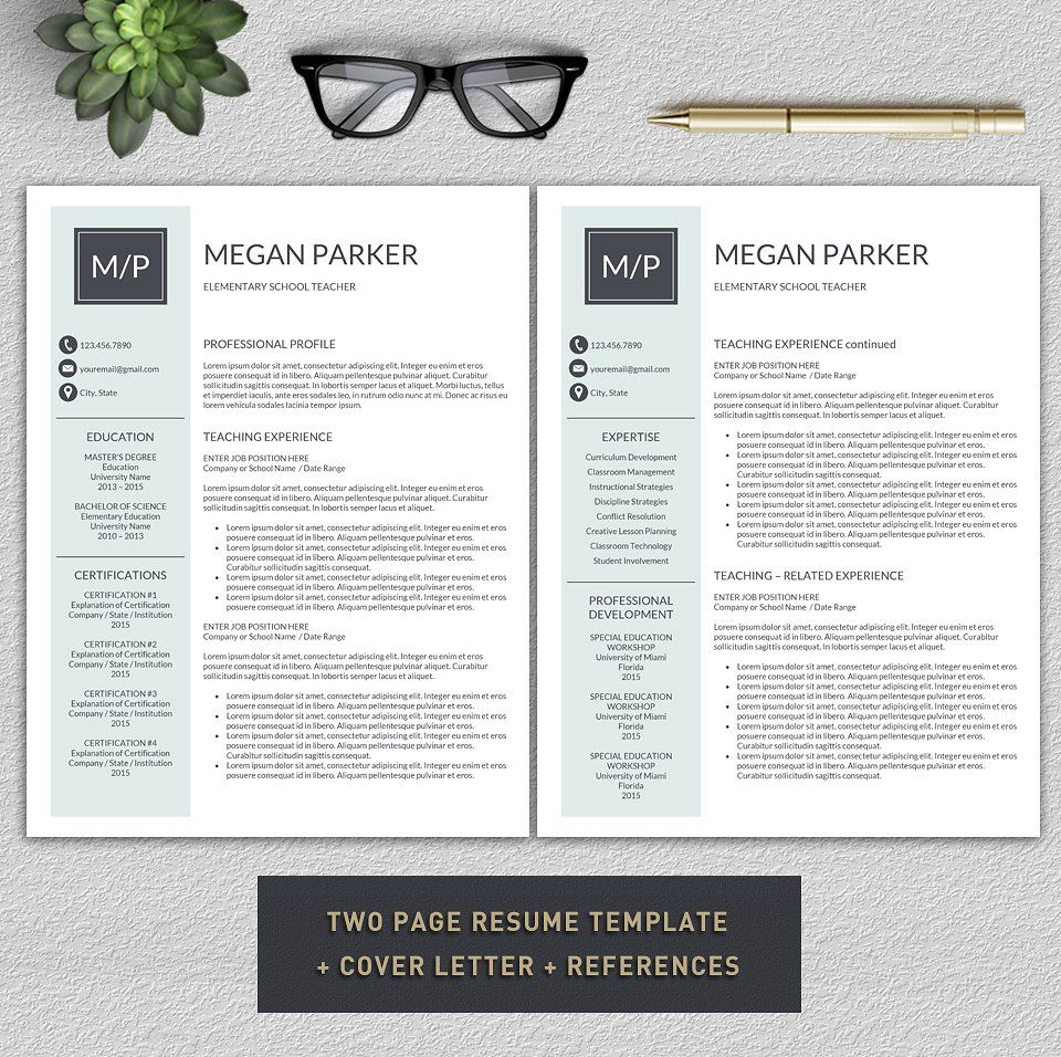 Resume/Teacher Resume by Pro.Graphic.Design on