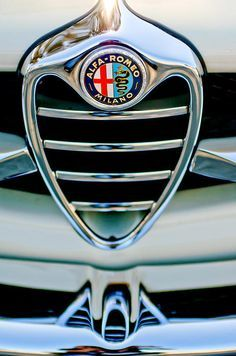 1962 Alfa Romeo Giulietta Coupe Sprint Speciale Grille Emblem - Car photographs by Jill Reger