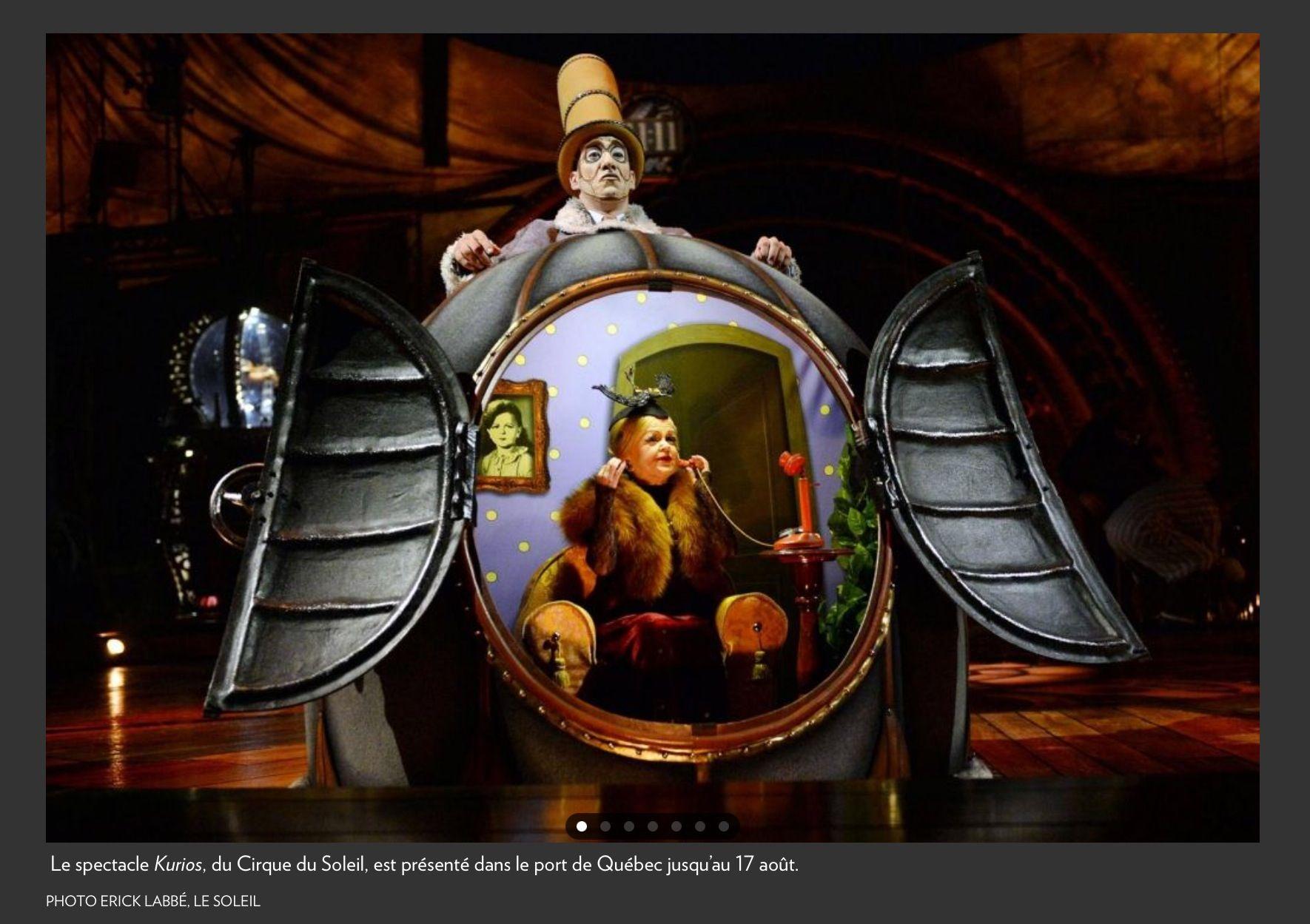 Kurios, Cabinet des curiosités, Cirque du soleil | The Creative ...