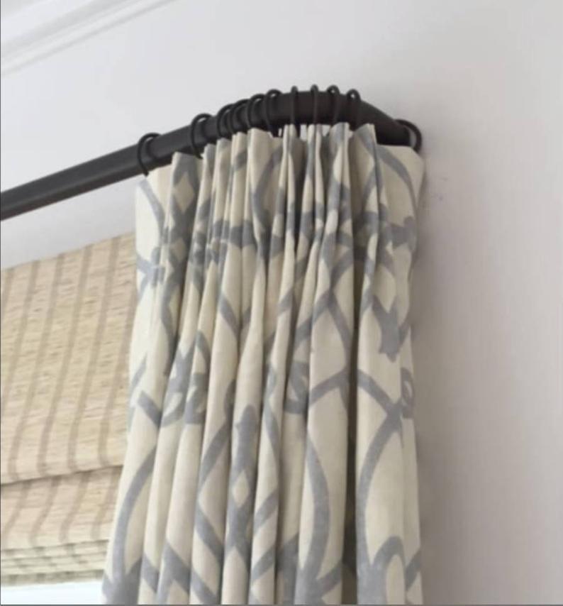 Image Result For French Return Hardware Black Curtain Rods French Curtain Rod Iron Curtain Rods