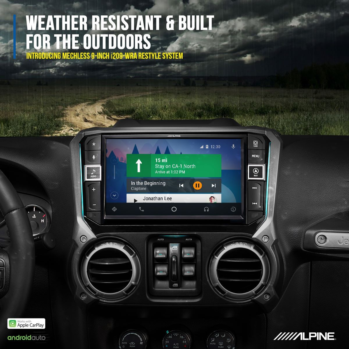 Do You Enjoy Taking Your Jeep Wrangler Off The Beaten Path Alpine S I209 Wra Weather Resistant 9 Inch Restyle In Dash Custom Jeep Jeep Wrangler Apple Car Play