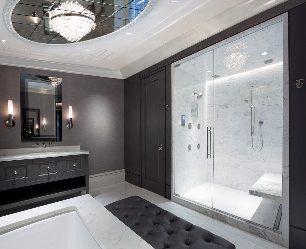 Contemporary Bathroom Design Photos Fascinating Master Bathroom  Contemporary  Bathroom  Chicago  Dspace Design Inspiration
