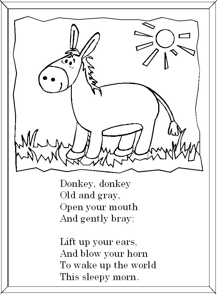 I like this nursery rhyme because it makes children have