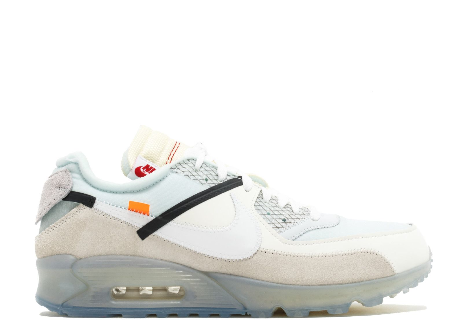 2018 Off White x Nike Air Max 90 Camo SailWhite Muslin On