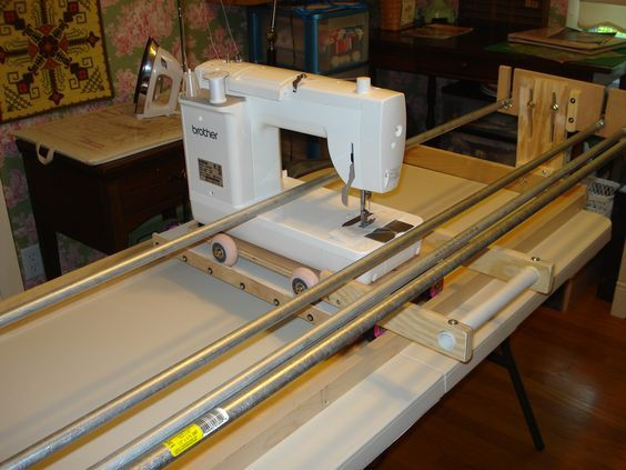 Machine Quilt Frame Thread Machine Quilting Frame Diy Quilting Frame Quilting Frames Quilt Frame Plans