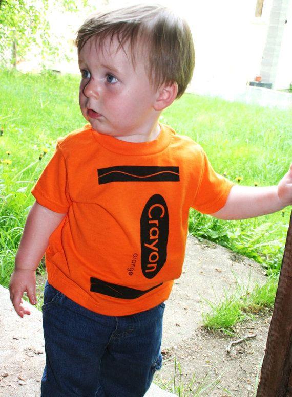 5c17e6fe Crayon T Shirt in Orange | Crayola Art Craft Birthday Party | Crayon ...