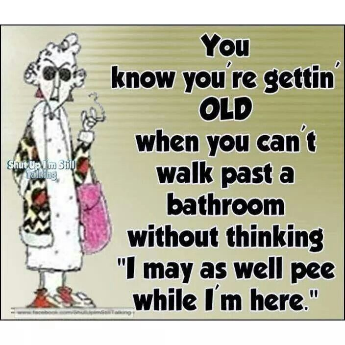 Image result for joke going to the bathroom as you getting older