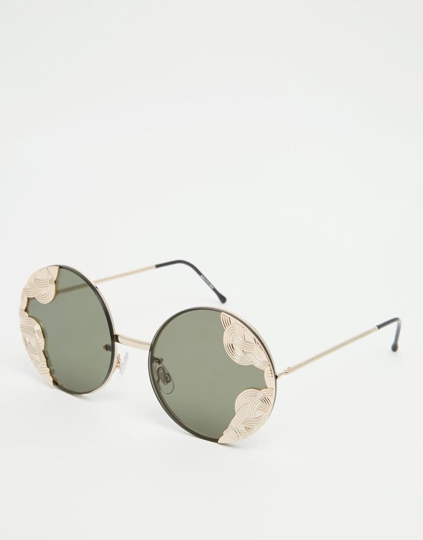 Spitfire | Spitfire – Runde Sonnenbrille mit Metallakzent in ...