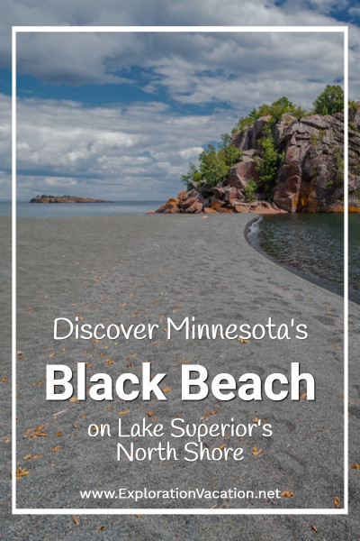 Minnesota's Black Beach: Black Beach (also known as Onyx Beach) is a large beach along the North Shore of Lake Superior in Minnesota, an area usually associated with dramatic cliffs and a boulder-strewn shore. The beach is located in Silver Bay, Minnesota, and it's an ideal spot for a picnic. #Beaches #Travel #Duluth #LakeSuperior #NorthShore #FamilyTravel #MinnesotaBlackBeach #BlackBeach #TravelUSA