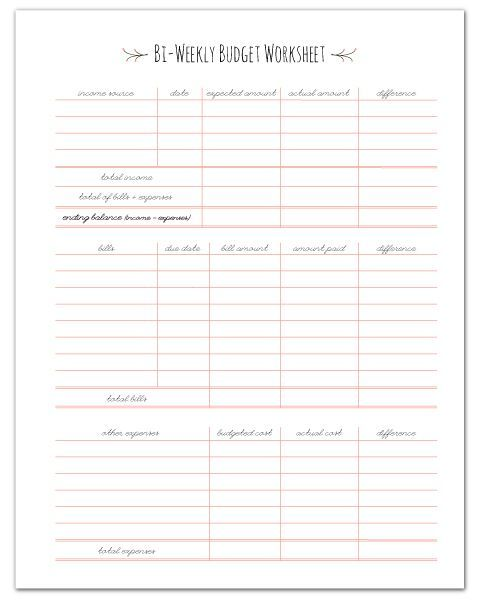 Free Monthly Budget Template | Monthly Budget Template, Budget