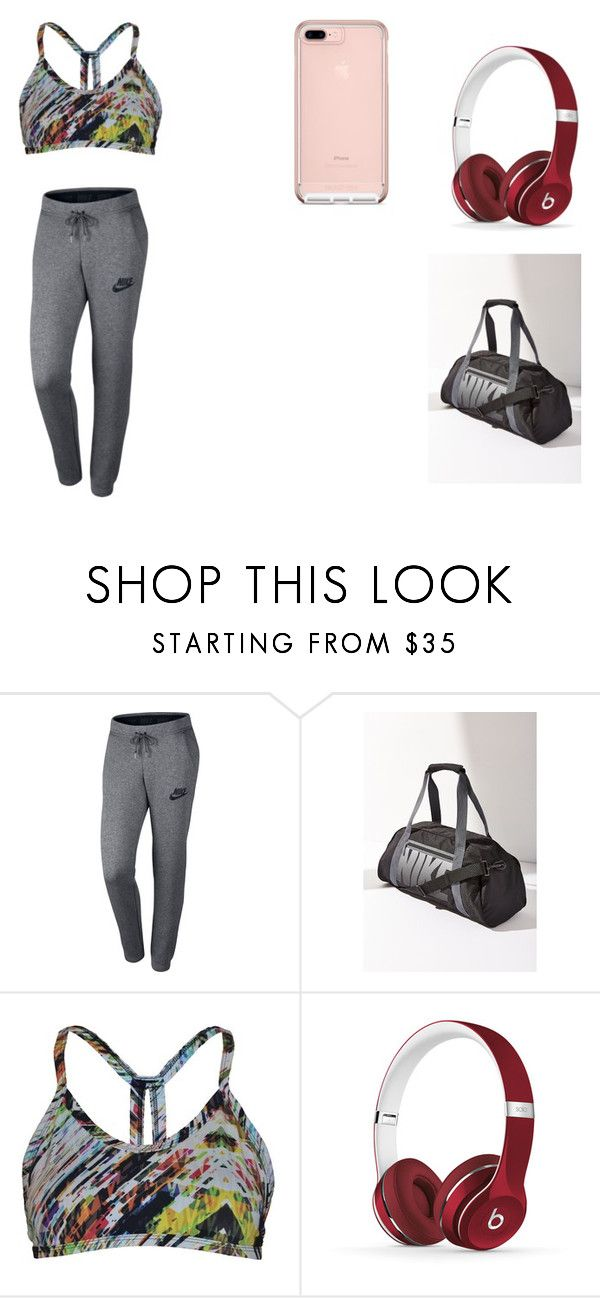 """""""Workout Clothes"""" by aubreyfaith030105 ❤ liked on Polyvore featuring NIKE, CCM and Beats by Dr. Dre"""
