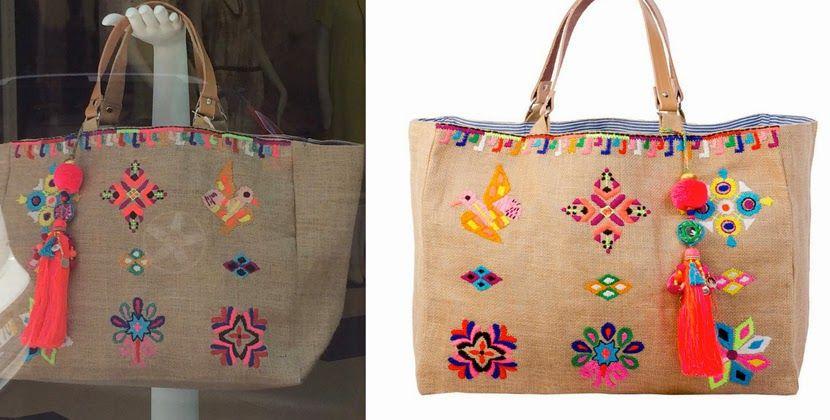 elcuadernodeideas: Bolso de lino bordado | bolsas de diseño