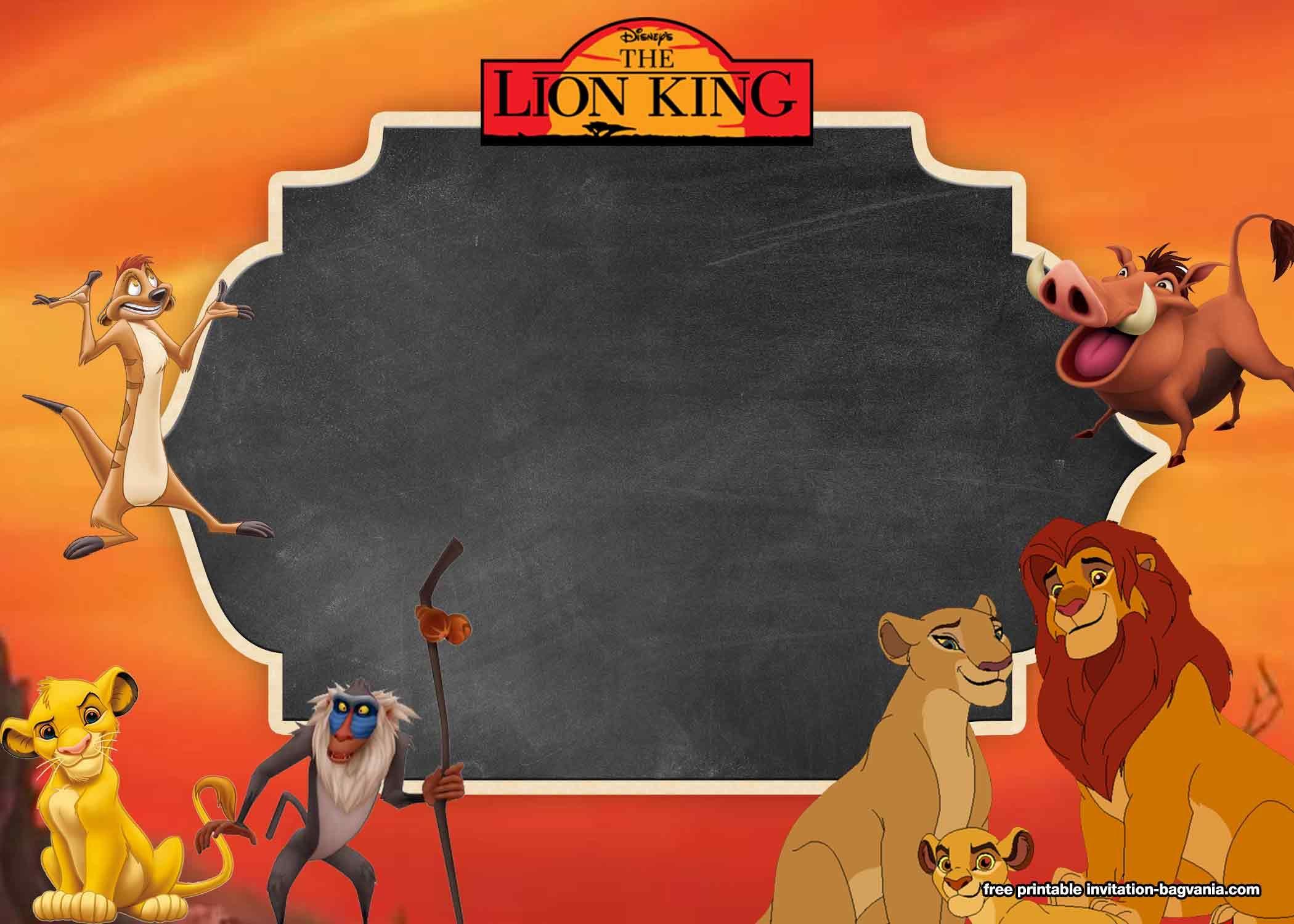 5+ FREE Printable Lion King Invitation Templates  DREVIO  Lion