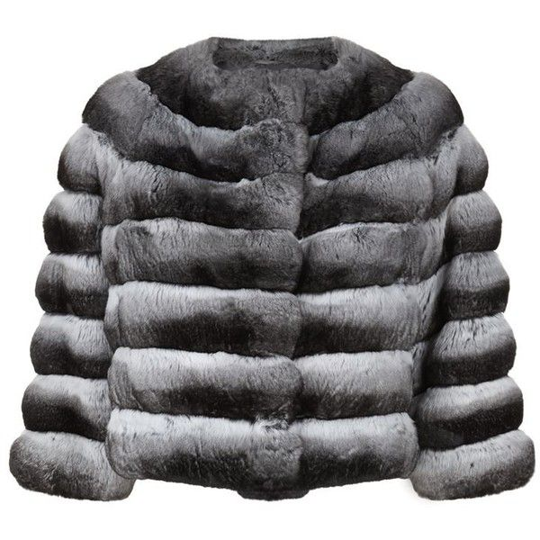 exclusive deals top design online here Harrods of London Cropped Chinchilla Fur Jacket ($13,110) ❤ liked ...