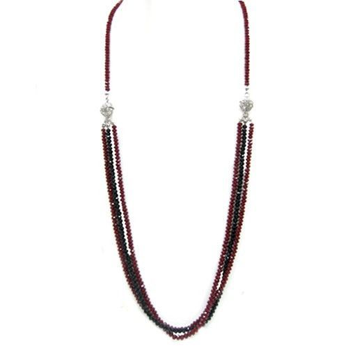 Siam And Jet Mix Stunning Magnetic Convertible Multi Way Necklace