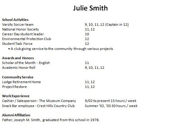 Resume Templates For Students Unique High School Student Resume Examples For College Resume Builder .