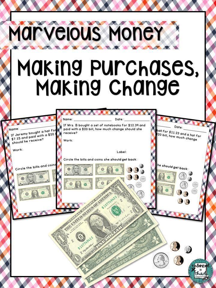 Money Making Reading Money Worksheets Money Word Problems Adding Money Counting change back worksheets