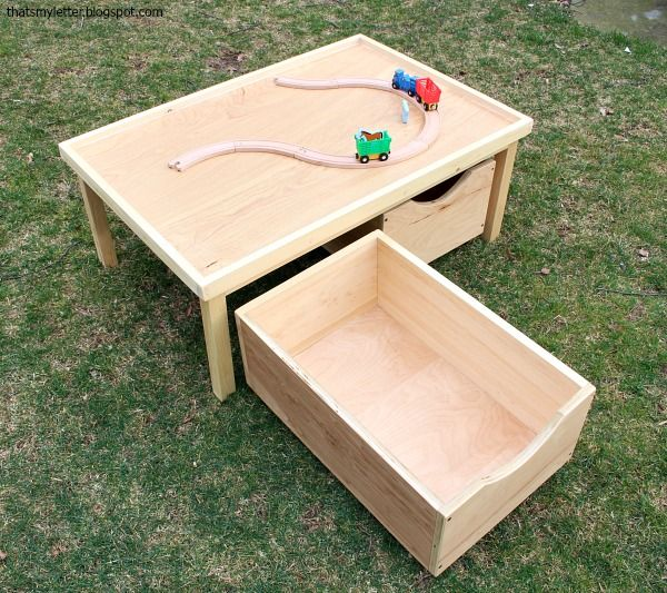 A Diy Tutorial To Build Kids Play Table With Storage Bins Including Free Plans