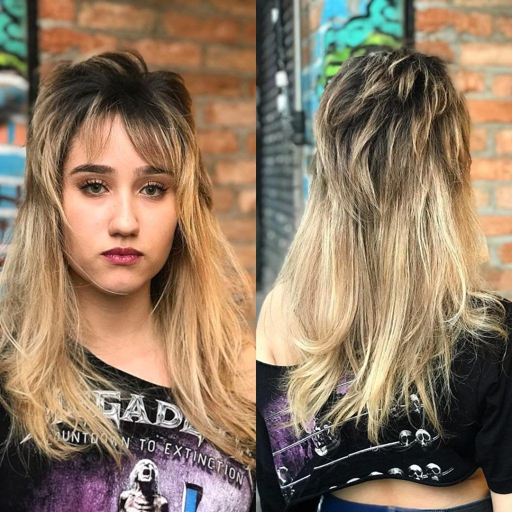 10 Women Rocking The Mullet Hairstyle  Mullet hairstyle, Hipster