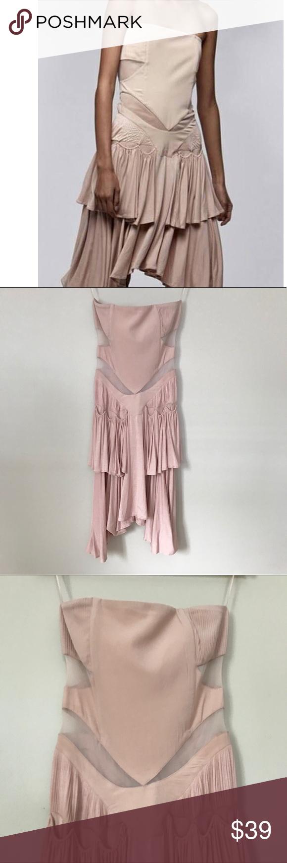 Zaya by zendaya blush pink strapless cutout dress my posh closet