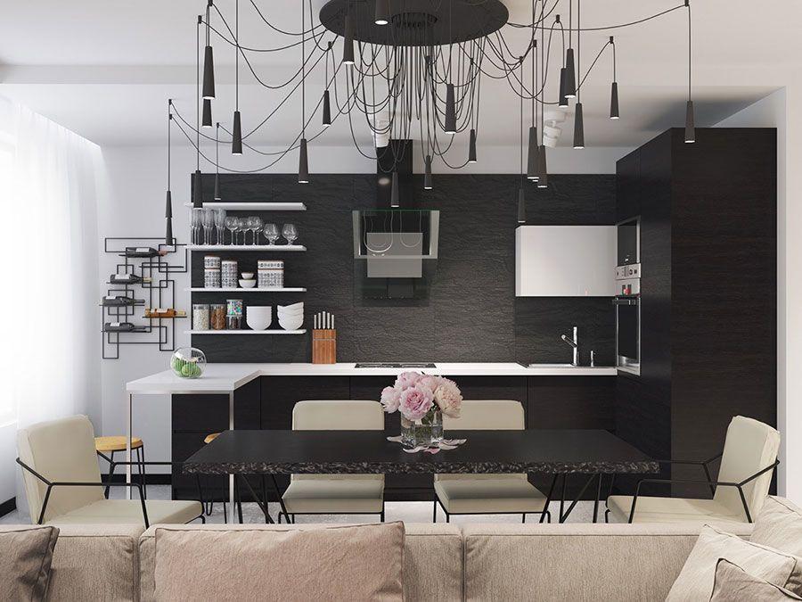 Cucina bianca e nera eccovi modelli dal design moderno