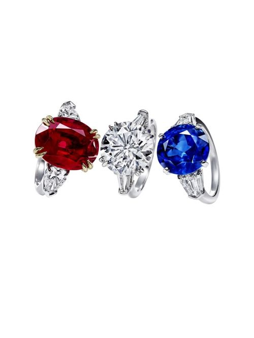 Harry Winston Ruby Diamond Sapphire Rings Jewelry Pinterest