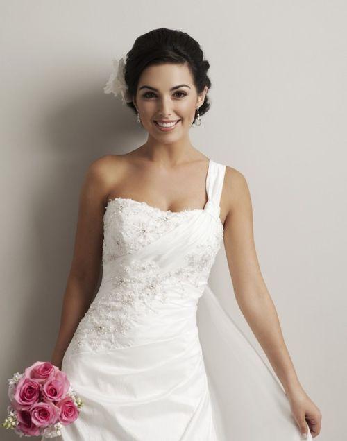 Beautiful One Shoulder Wedding Dress - Wedding Fuz | Wedding Fuz