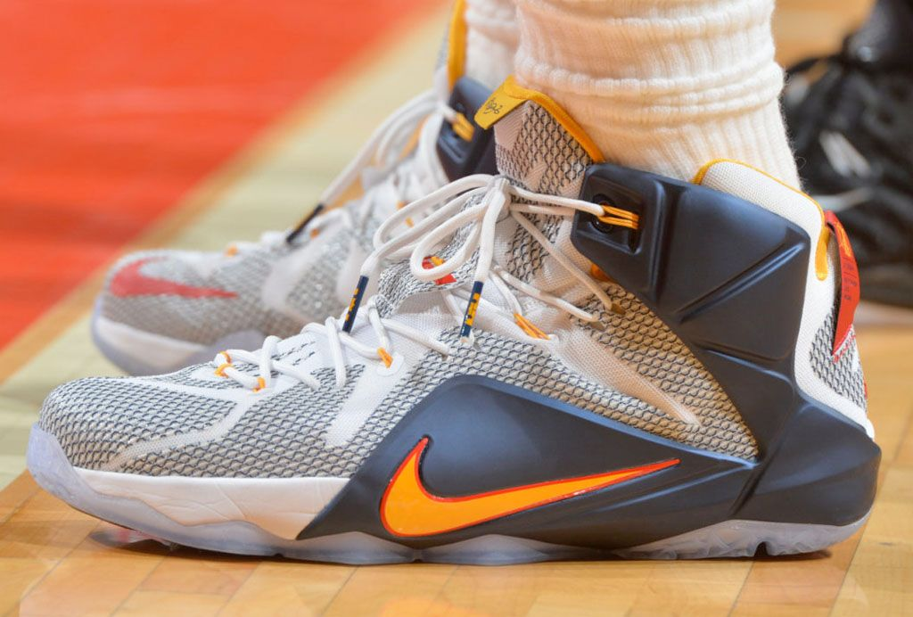 726fdca9ae6f SoleWatch  Up Close with LeBron James  Nike LeBron 12 PE for Game 3 ...