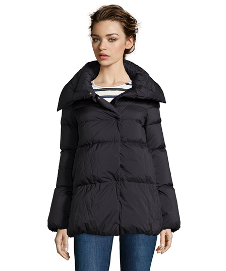 Herno Black Quilted Nylon Pillow Collar Down Jacket
