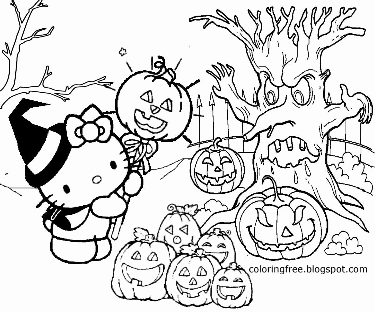 Children 039 S Halloween Coloring Pages Awesome Graveyard Coloring Pages At Getcolorings Hello Kitty Colouring Pages Kitty Coloring Hello Kitty Coloring