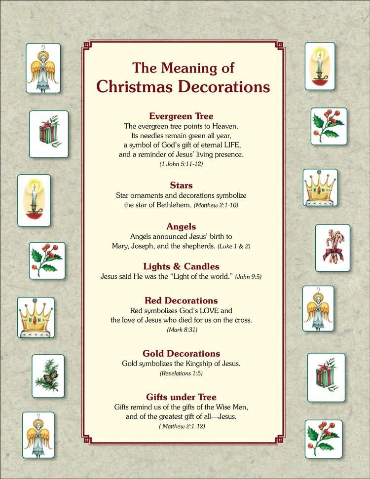 The Meaning of Christmas Tree Ornaments PDF Christian