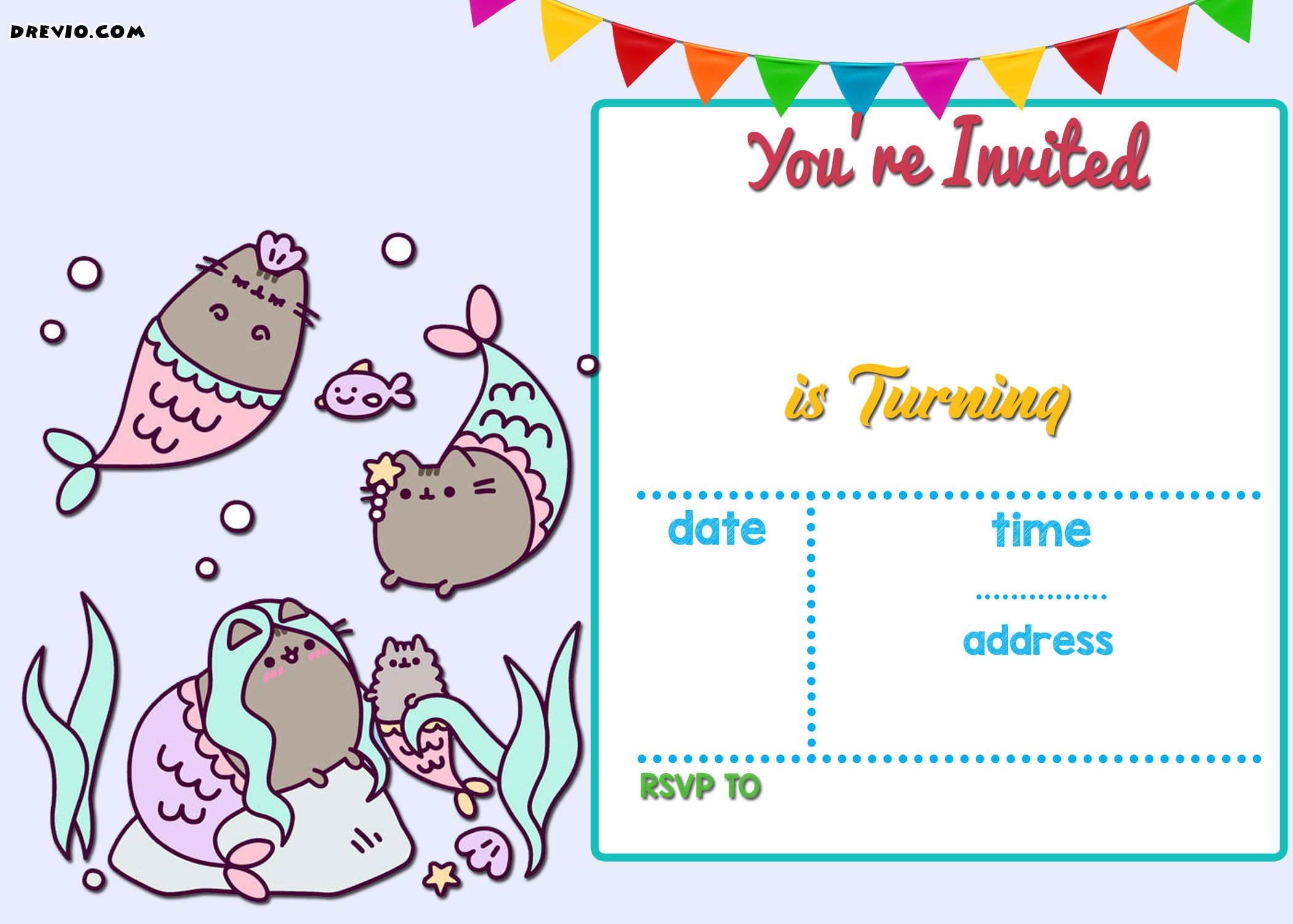 Nice Free Printable Birthday Invitations Online | FREE Printable ...