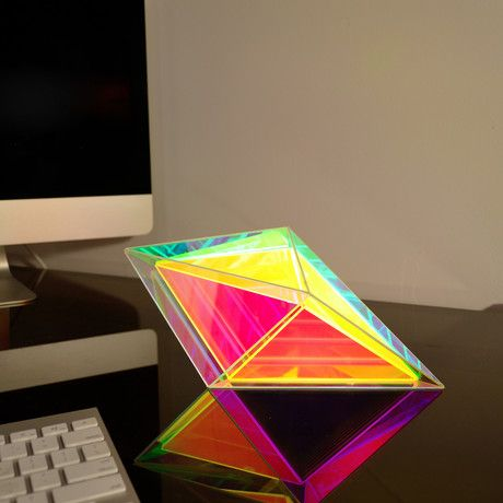 Sean Augustine March Infinite Prism Desk Lamp Iridescent Decor Desk Lamp Lamp