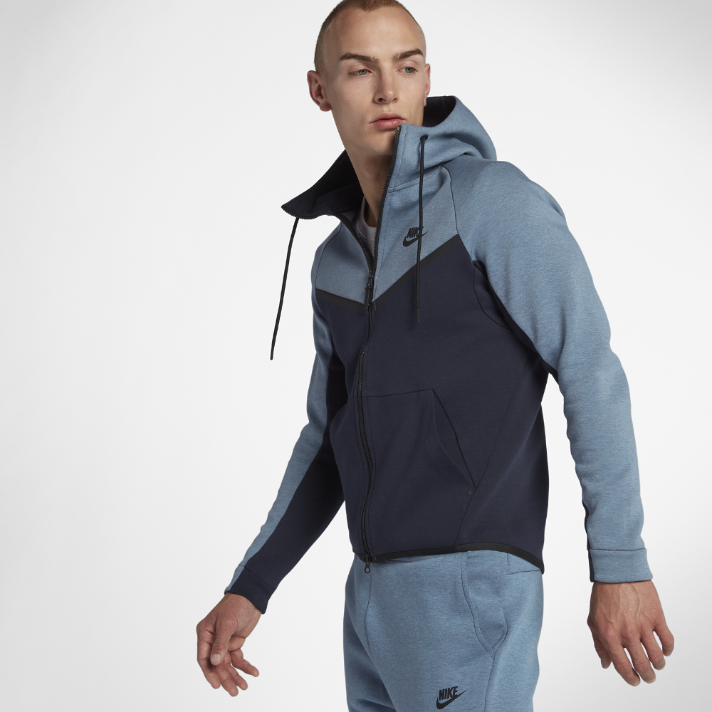 0f5c9cae17f1 Nike Sportswear Tech Fleece Windrunner Men s Full-Zip Hoodie Size Large  (Blue)