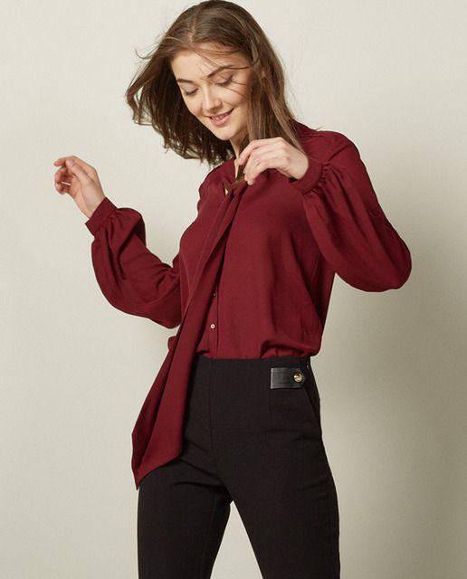 ... lazada manga abullonada closed blouse con day forward blusa con lazada