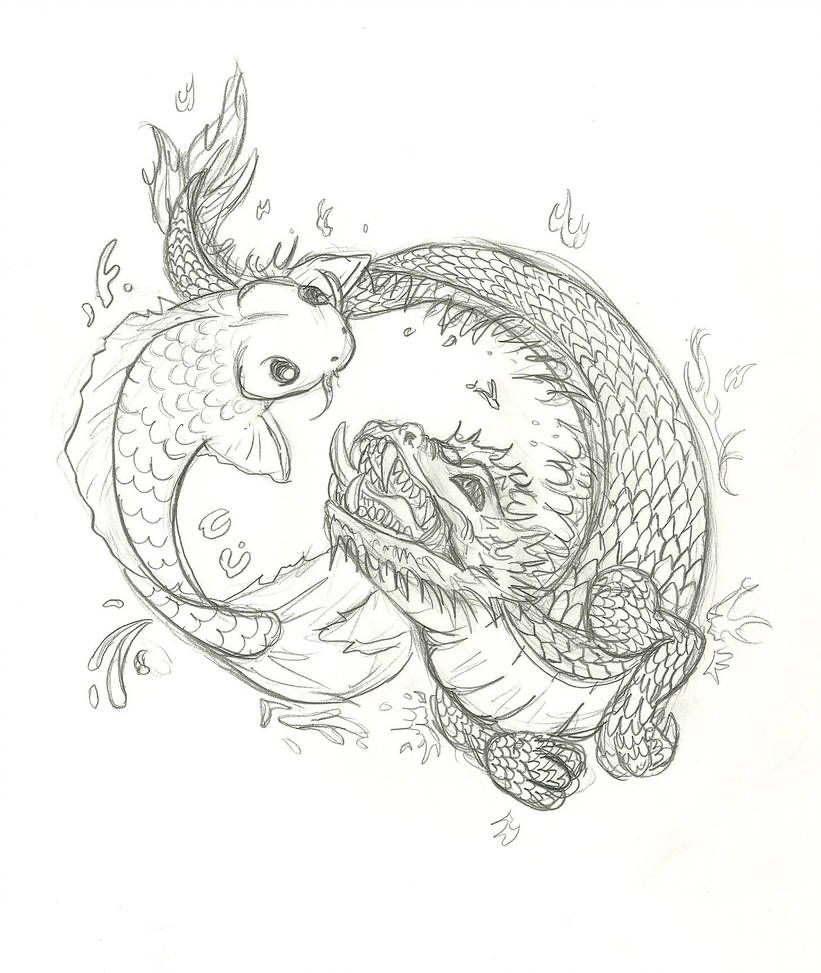 koi and dragon tattoo by Inu87 on DeviantArt