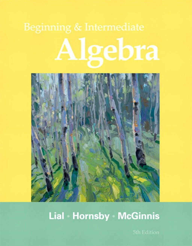 Beginning And Intermediate Algebra Ebook Rental In