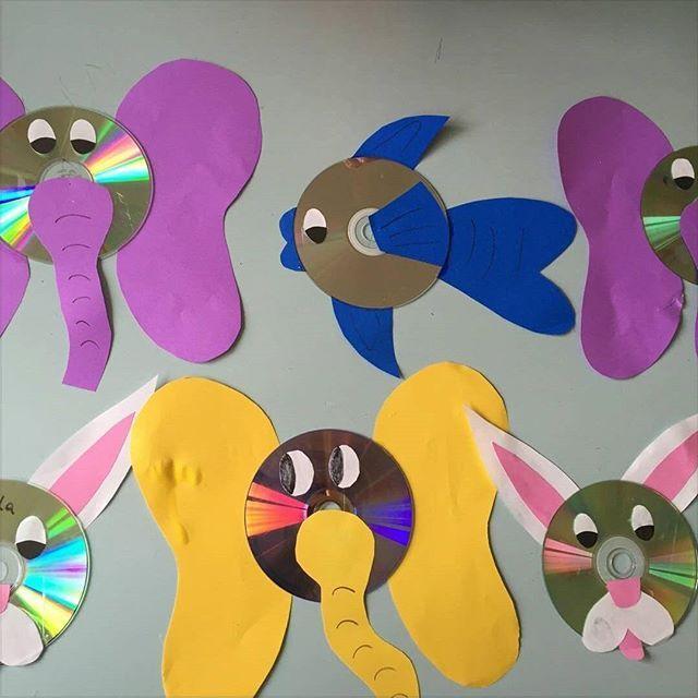 Cd Craft Ideas For Kids Part - 16: Cd Animals Craft Idea For Kids