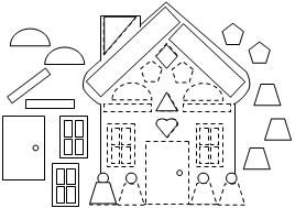Gingerbread house (colour, cut and glue) Christmas