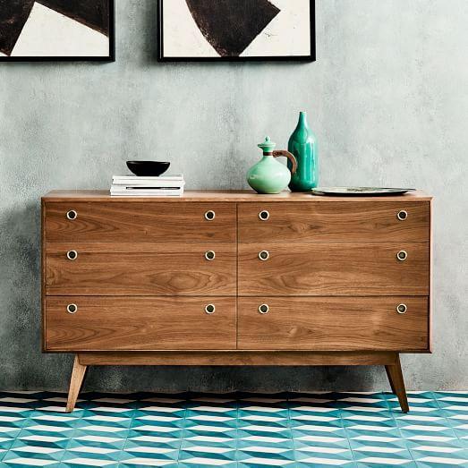 Arlo Mid Century 6 Drawer Dresser