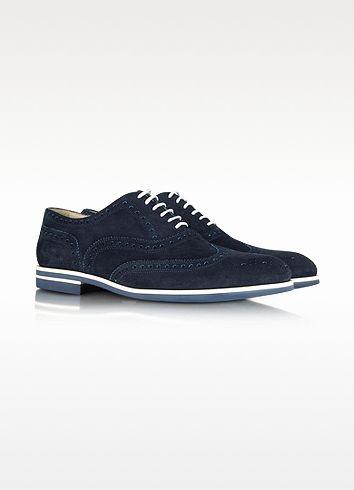 Daim Borgioli Chaussures Ton Bleu Fratelli Sur En Oxford O0Xkn8wP