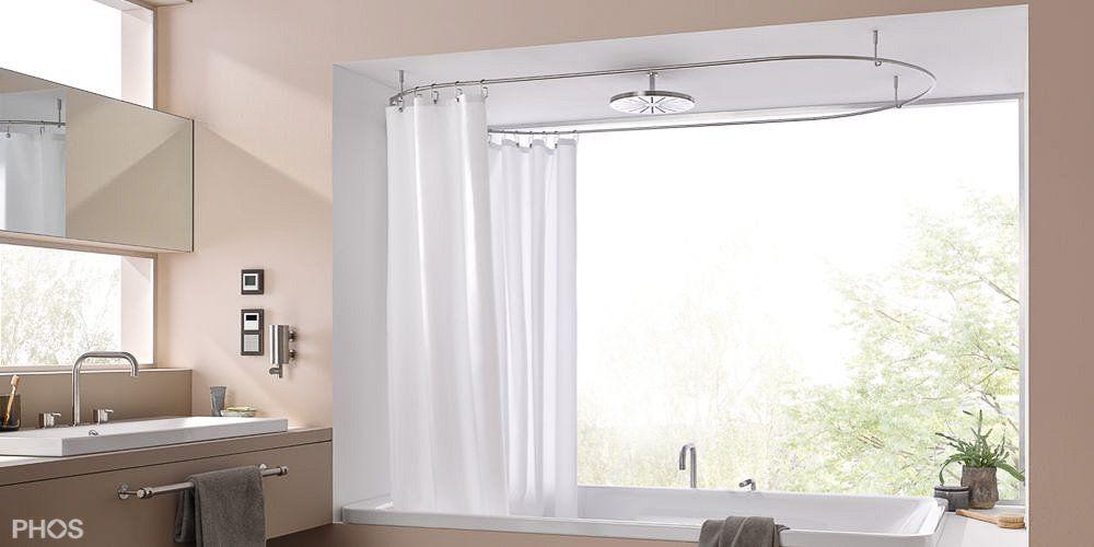 Duschvorhangstange Oval Deckenmontage Dso1700 700 Duschvorhangstange Vorhange Dusche