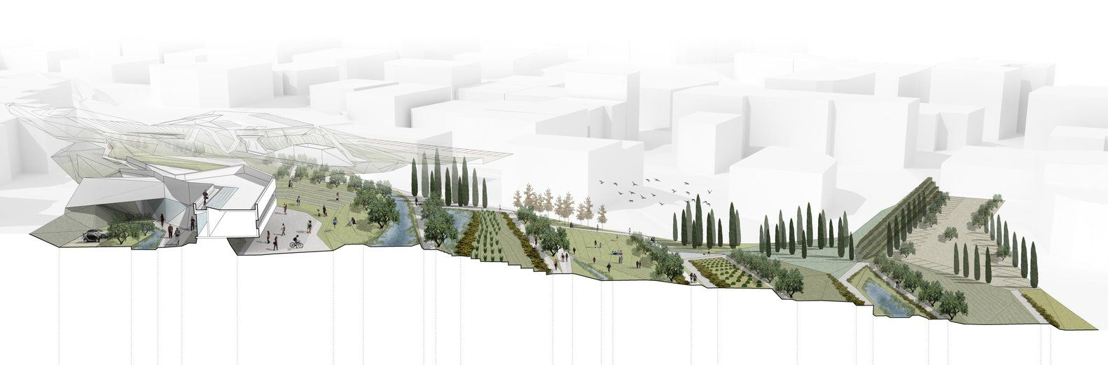 Gallery Of Urban Park Of Palouriotissa Third Prize Winning Proposal Groundlab Clara Oloriz 13 Landscape And Urbanism Urban Park Architecture Drawing